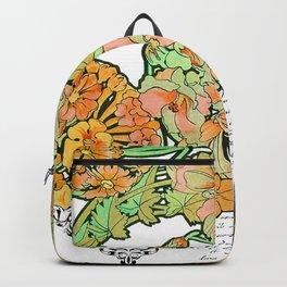 Romance in Paris, Art Nouveau Floral Nostalgia Backpack