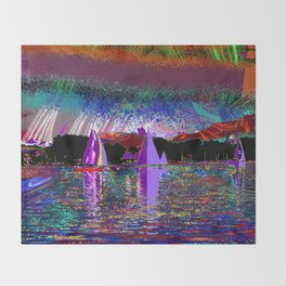 sailing today Throw Blanket