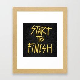 Start To Finish Framed Art Print