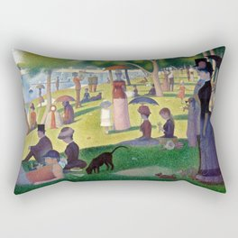 """Georges Seurat """"A Sunday Afternoon on the Island of La Grande Jatte"""" Rectangular Pillow"""