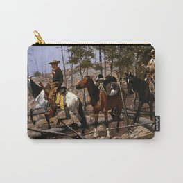 "Frederic Remington Western Art ""Prospecting for Cattle Range"" Carry-All Pouch"