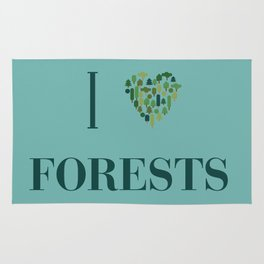 I heart Forests Rug