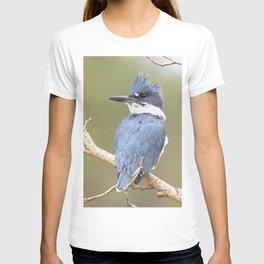 Watercolor Bird, Kingfisher 03, Estes Park, Colorado T-shirt