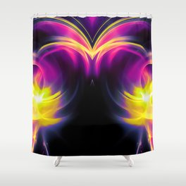 abstract fractals mirrored reaclsh Shower Curtain