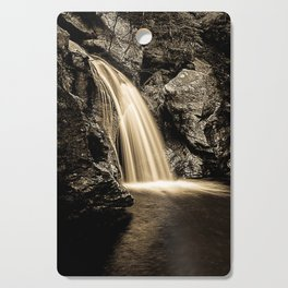 Sepia Waterfall, Stowe Vermont Cutting Board