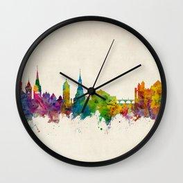Schaffhausen Switzerland Skyline Wall Clock