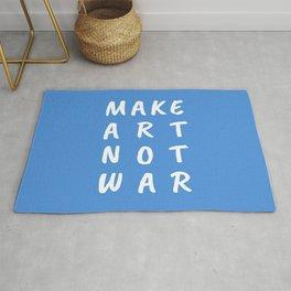 Make Art Not War (Blue) Rug