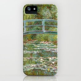 "Claude Monet ""Bridge over a Pond of Water Lilies"" iPhone Case"