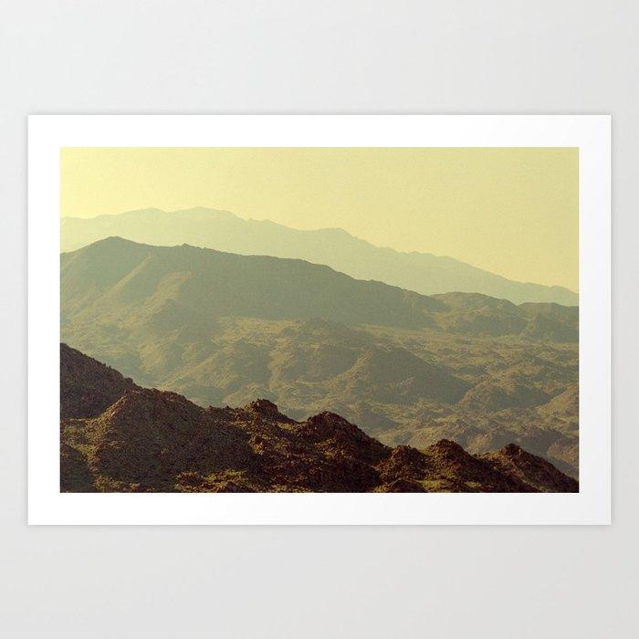 Palm Springs Mountains I Art Print