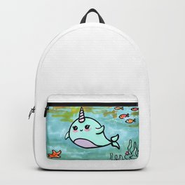 Cute narwhal Backpack