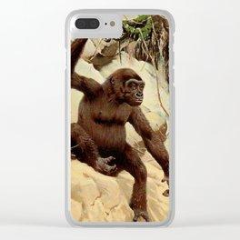 Kuhnert, Friedrich Wilhelm (1865-1926) - Wild Life of the World 1916 v.3 (Gorilla) Clear iPhone Case