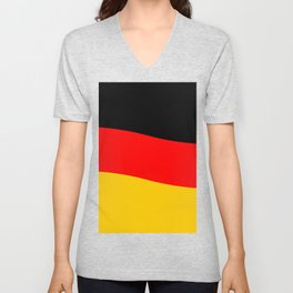 Black Red and Yellow German Flag Wave Unisex V-Neck