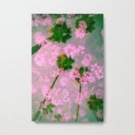 Palm Blossoms v3 Metal Print