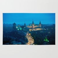 ukraine Area & Throw Rugs featuring Kamianets-Podilskyi Castle (Ukraine) by Limitless Design