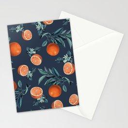 Lemon and Leaf Pattern VI Stationery Cards