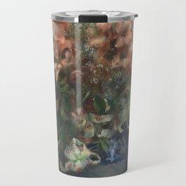 Gladioli in a Vase by Renoir Travel Mug