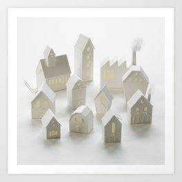 Birdhouse village Art Print