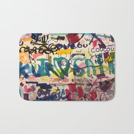Urban Graffiti Paper Street Art Bath Mat