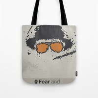 fear and loathing Tote Bags featuring Fear and Loathing in Las Vegas by Jacob Wise