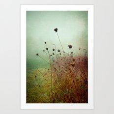 A Dense Fog Surrounded Her Art Print