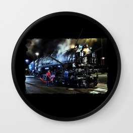 Signaling. Lantern in Mid-Swing. UP 9000. Union Pacific. Steam Train Locomotive. © J. Montague. Wall Clock