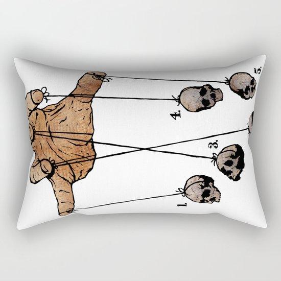 The Five Dancing Skulls Of Doom Rectangular Pillow