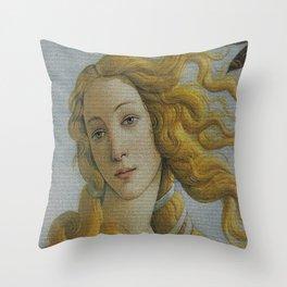 My Boticelli Serie : Venus Throw Pillow