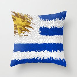 Extruded flag of Uruguay Throw Pillow