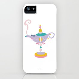 Stylized, fun, and cute oil lamp in pastel colors. iPhone Case