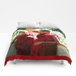 Laughter at th Monastey, Myanmar Comforters