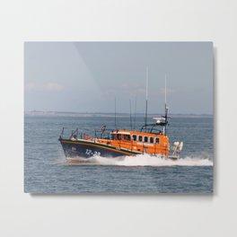 Lifeboat RNLI Robert Charles Brown Metal Print