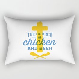 Church of Chicken and Beer Rectangular Pillow
