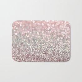 Girly Pink Snowfall Bath Mat