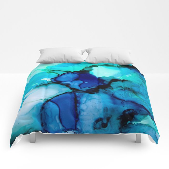 Booming Turquoise Comforters