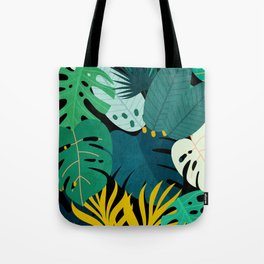 Tropical Jungle Leaves Tote Bag