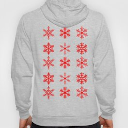 red snowflake seamless pattern Hoody