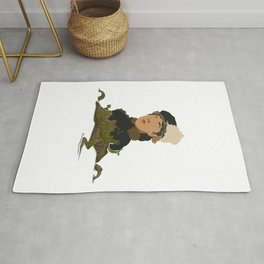 Girl in nature Rug