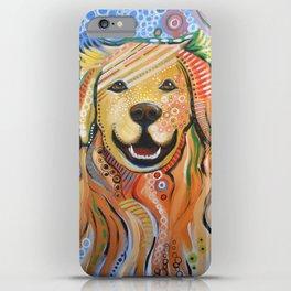 Max ... Abstract dog art, Golden Retriever, Original animal painting iPhone Case