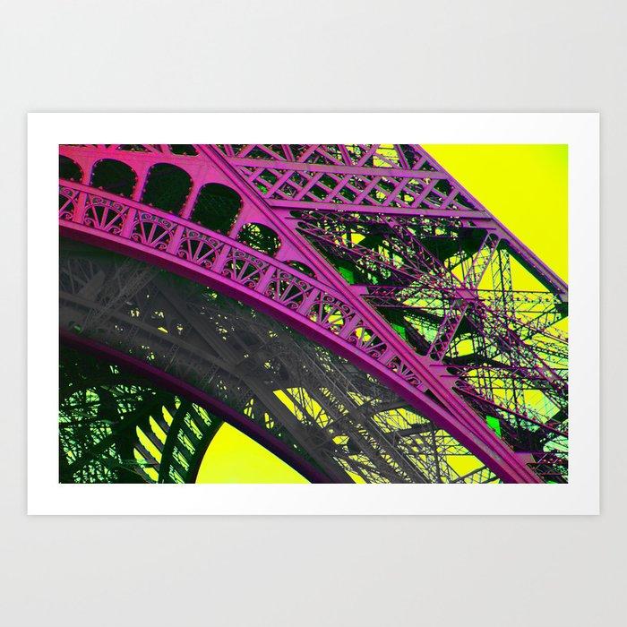 purple paris Art Print