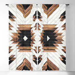 Urban Tribal Pattern No.5 - Aztec - Concrete and Wood Blackout Curtain