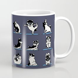 Husky Yoga Coffee Mug