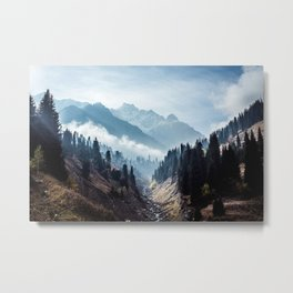 VALLEY - MOUNTAINS - TREES - RIVER - PHOTOGRAPHY - LANDSCAPE Metal Print