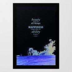 Inspirational - Beauty Art Print
