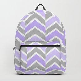 Purple Gray Chevron Geometric Backpack