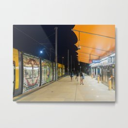 Light Rail Station Metal Print