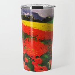 Poppies before the Storm Travel Mug