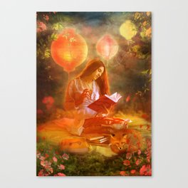 The Poetess Canvas Print