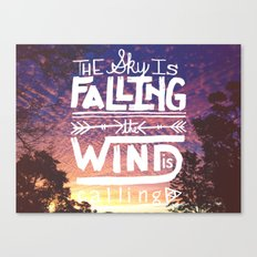 The sky is falling, the wind is calling Canvas Print