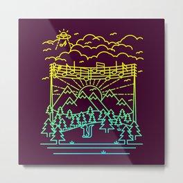 Mountain Notes Metal Print