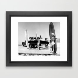 Get Out Of Her Way Framed Art Print